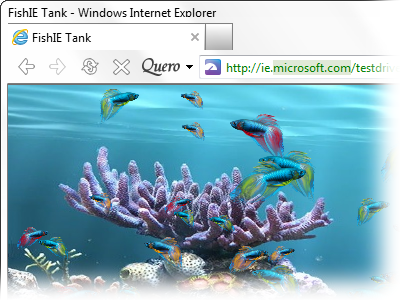 IE FishIE Tank Demo with Quero Toolbar 6